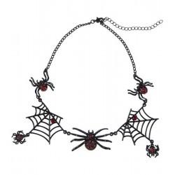 Náhrdelník  s pavučinami a...