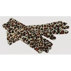 Rukavice dlouhé tygrované
