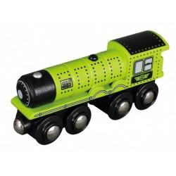 Parní lokomotiva - zelená -...