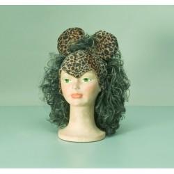 Čepička s vlasy - Leopard