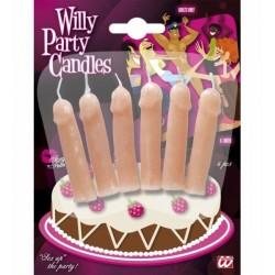 Svíčky pindík na dort 6ks