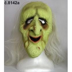 Maska Babička s vlasy