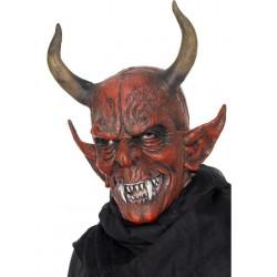 Maska - Čert s velkými rohy