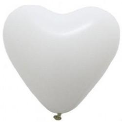 Balónek srdce bílý