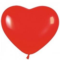 Balónek srdce červený
