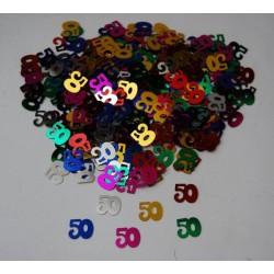 Konfety výročí číslo: 50