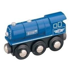 Parní lokomotiva - modrá -...