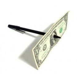 Kouzlo - Propíchnutá bankovka