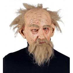 Maska Děda s vlasy a vousy