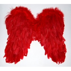 Křídla červená péřová -...