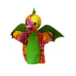 Drak duhový 28cm, zelený, maň.
