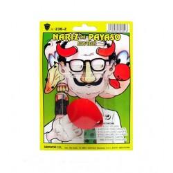 Klaunský nos gumový na kartě